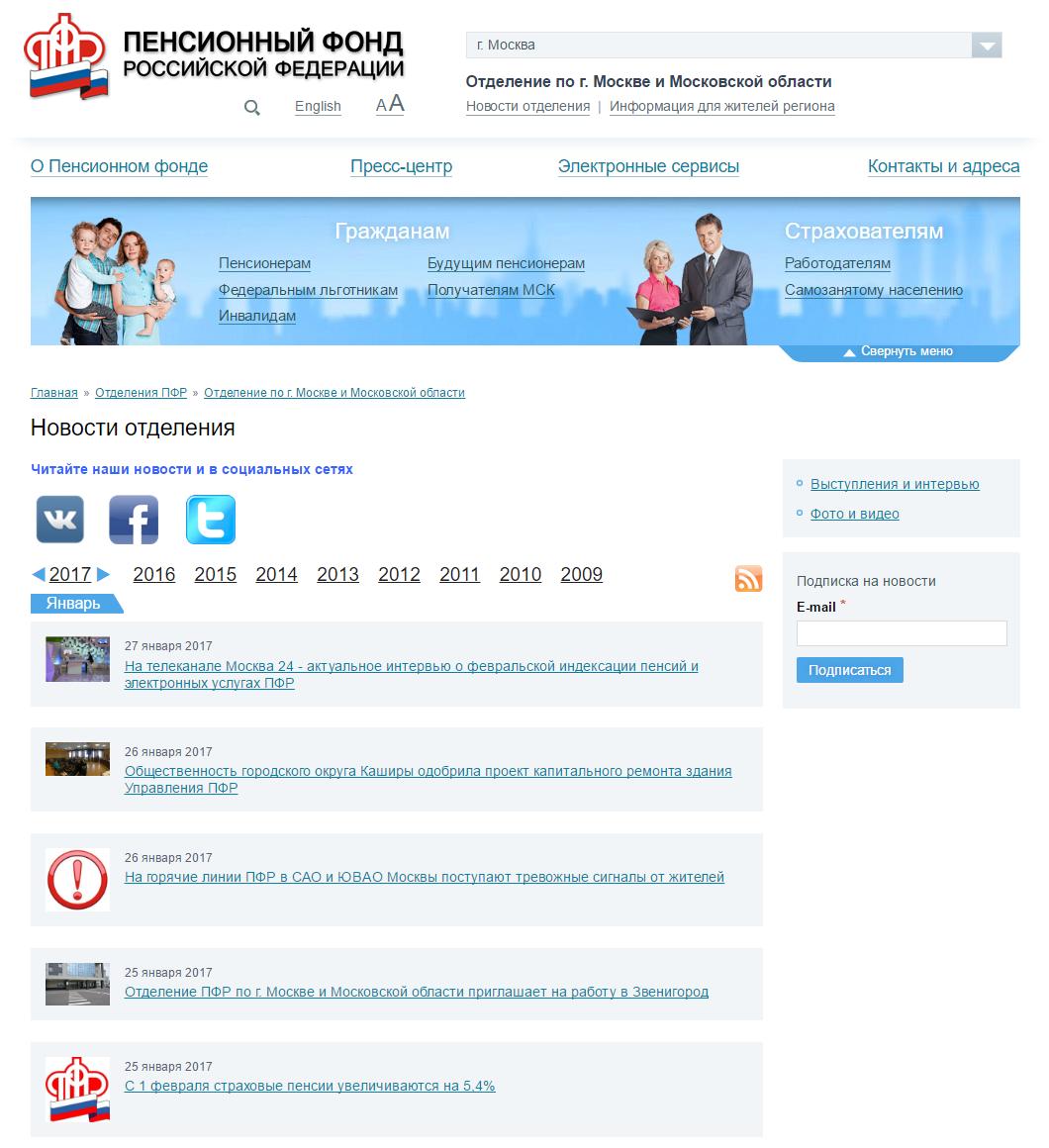 Личный кабинет ПФР (Пенсионный Фонд России)
